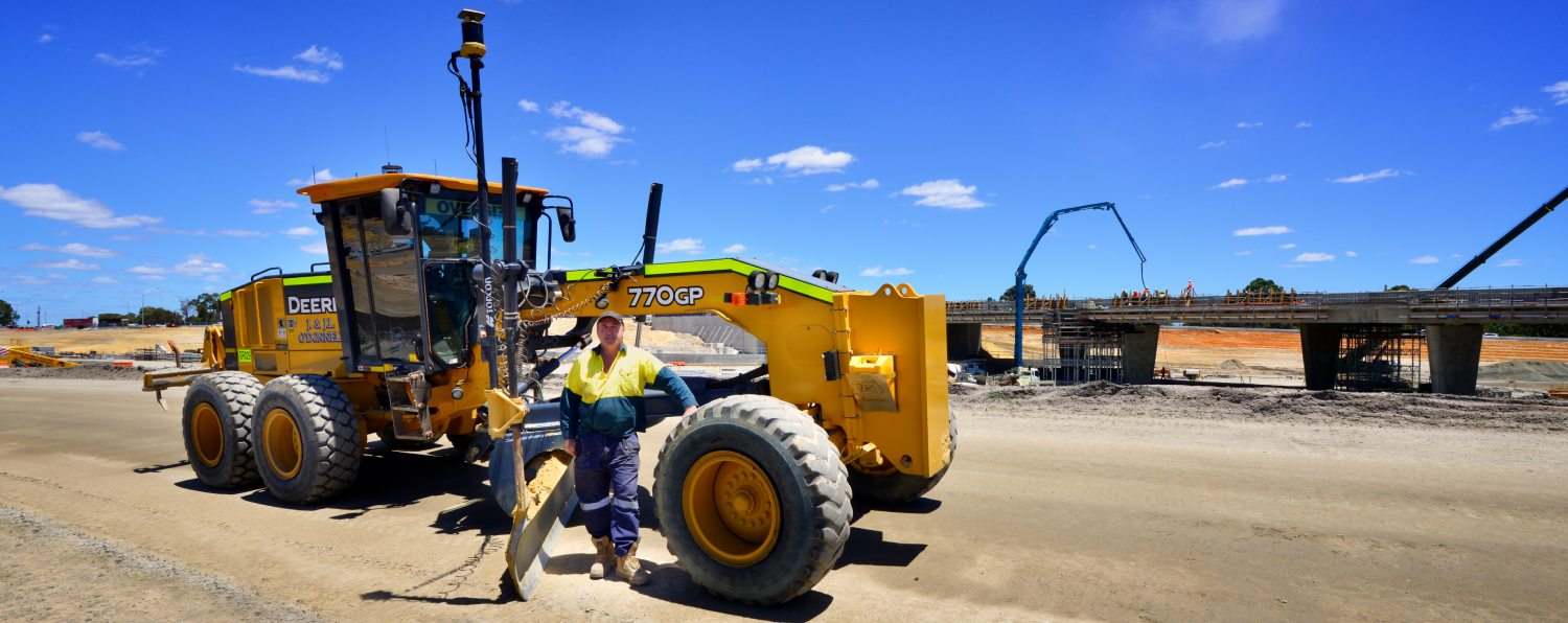 Jeff O'Donell Using Topcon GPS