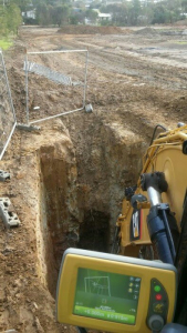 Digging with Topcon GPS