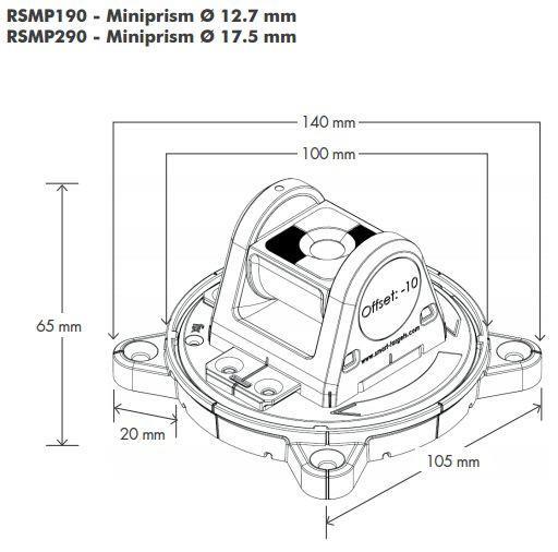 Rotatable Tilting Magnetic Mini Prism RSMP190M