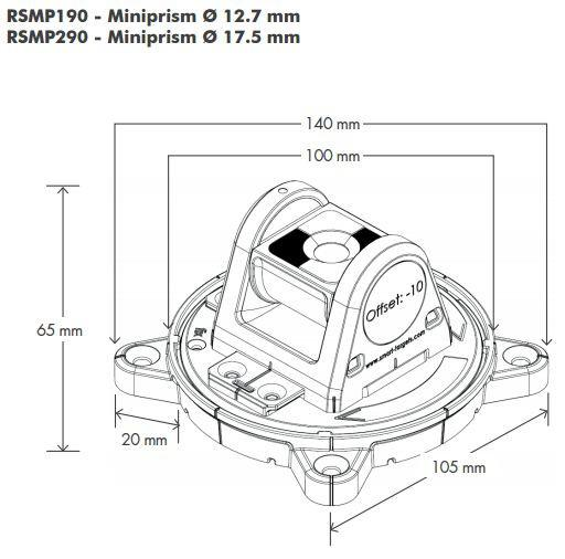 Rotatable Tilting Mini Prism RSMP290