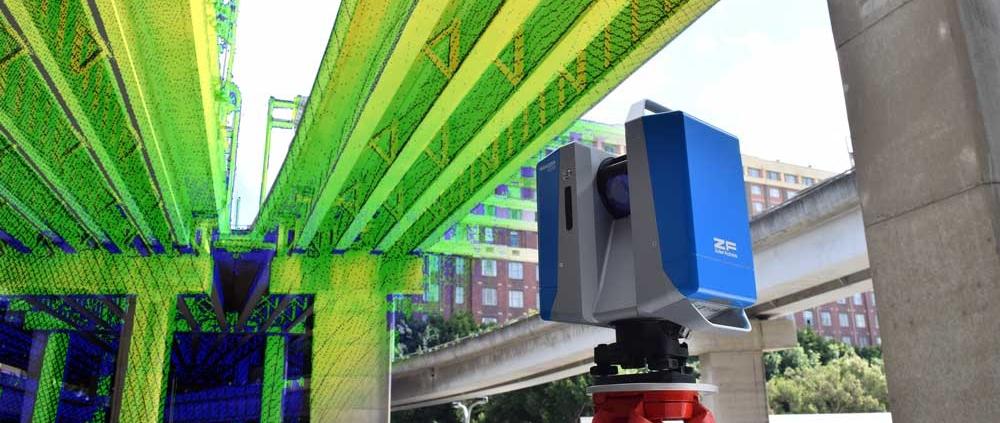 3D laser scanning bridge
