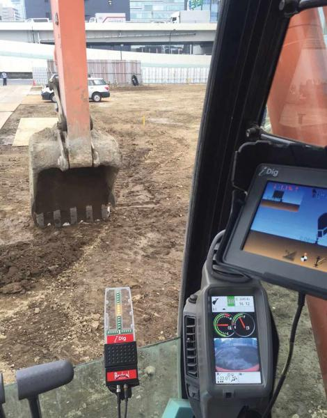 excavator grade control