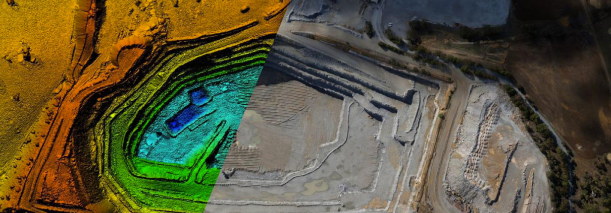 mine surveying aerial mapping