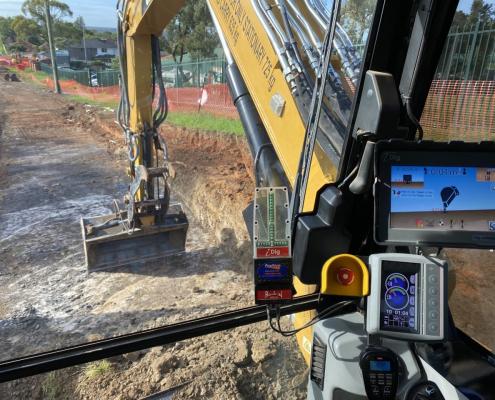 iDIg2D machine control system Biletic's Excavations