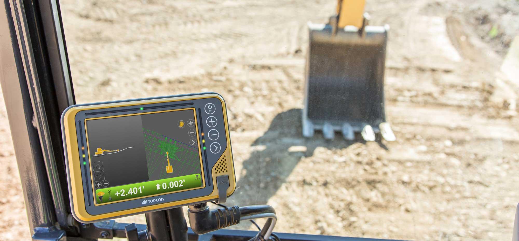 3D grade control excavator Topcon