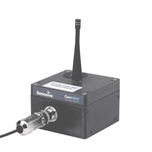 Geowan temperature sensor node