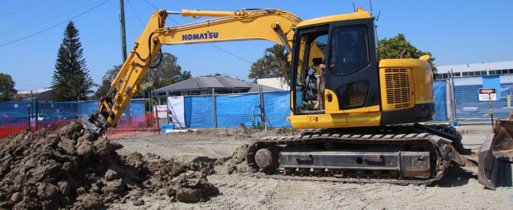 combined excavations using iDig Machine guidance