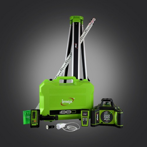 Imex i88G Rotating Laser Level – Green Beam