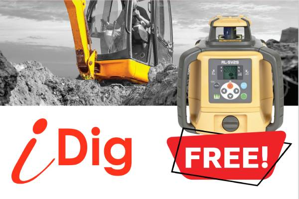 Buyd idig and get a free topcon laser