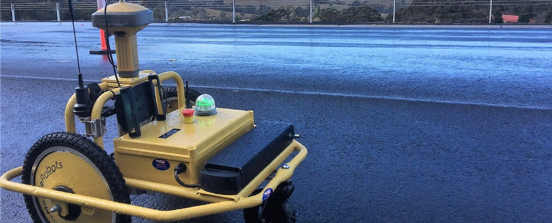 tiny surveyor road marking robot